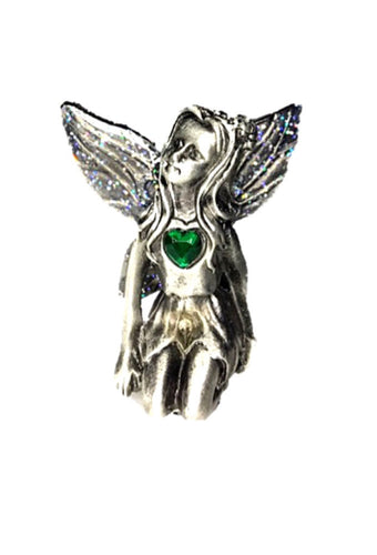 Emerald Birthstone Fairy Ornament - May