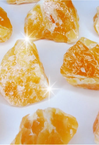 Rough Orange Calcite Stone - Medium
