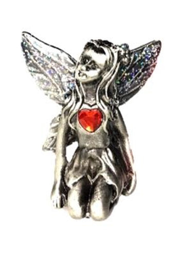 Ruby Birthstone Fairy Ornament - July