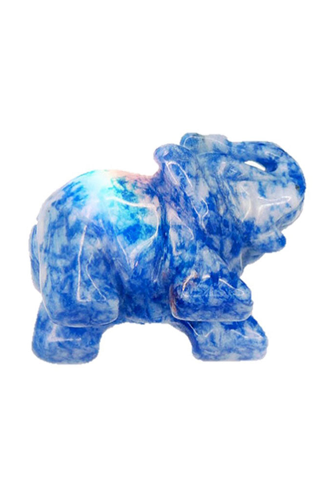 Sodalite Hand Carved Elephant Statue