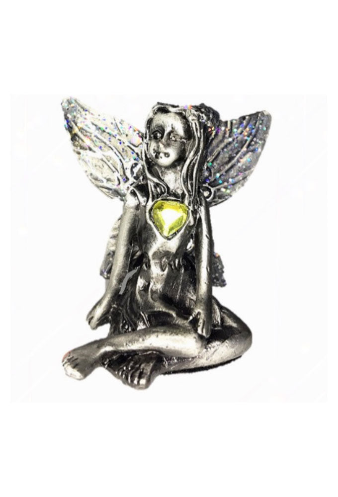 Yellow Topaz Birthstone Fairy Ornament - November