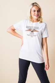 Daisy Street Relaxed T-Shirt with Midnight Riders Print