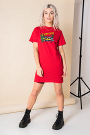 Daisy Street Relaxed T-Shirt Dress with I Survived Print