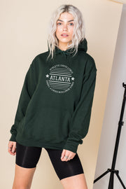 Daisy Street Oversized Hoodie with Atlanta Print