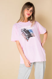 Daisy Street Relaxed T-Shirt with American Dreamer  Print