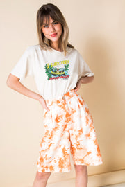 Daisy Street Relaxed T-Shirt with I Survied Print