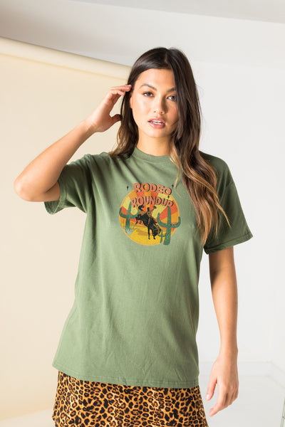 Daisy Street Relaxed T-Shirt with Rodeo Roundup