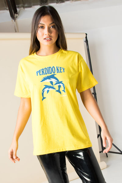 Daisy Street Relaxed T-Shirt with Perdido Key Print