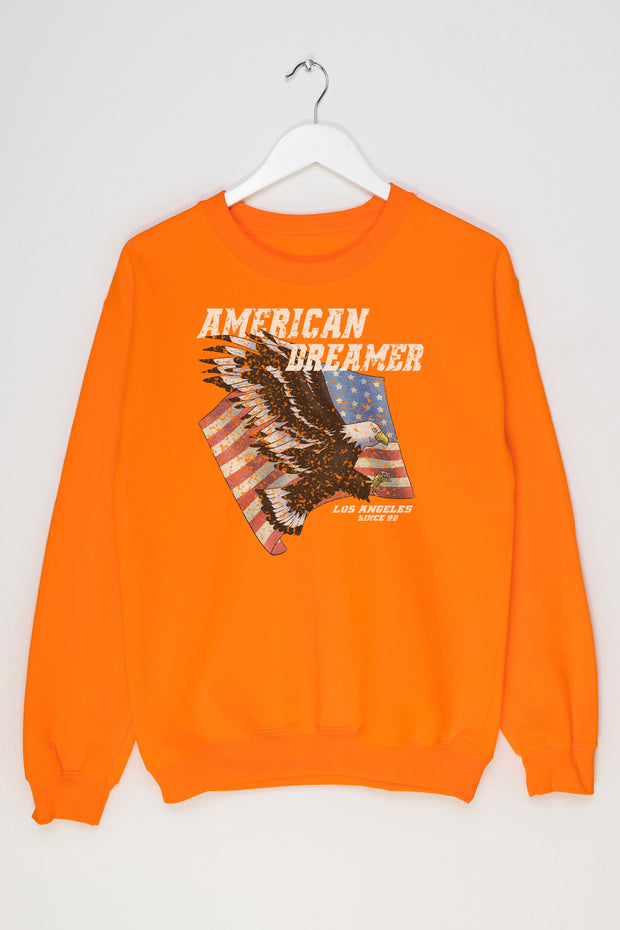 Daisy Street Oversized Sweatshirt with American Dreamer Print