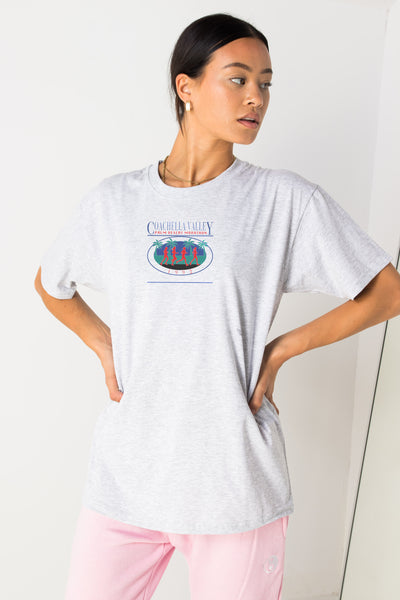 Daisy Street Relaxed T-Shirt with Coachella Valley Print