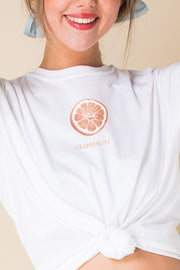 Daisy Street Relaxed T-Shirt with Grapefruit Print