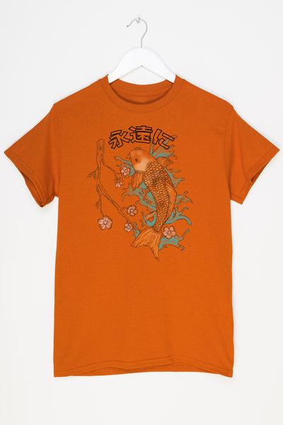 Daisy Street Relaxed T-Shirt with Fish Print