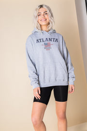 Daisy Street Oversized Hoodie with Atlanta Georgia Print