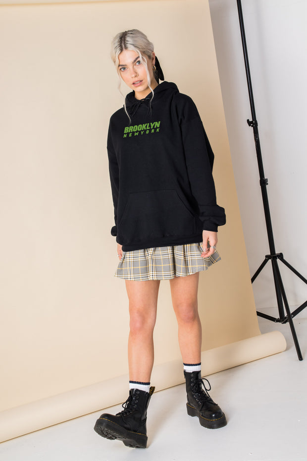 Daisy Street Oversized Hoodie with Brooklyn Print