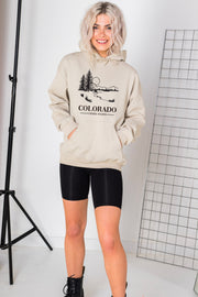 Daisy Street Oversized Hoodie with Colorado Print
