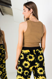 Daisy Street Oversized Jogger in Sunflower Borg