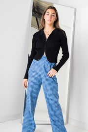 Daisy Street Trousers in Blue Check
