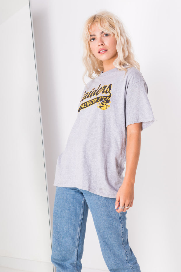 Daisy Street Vintage Champion T-Shirt with Raiders Print