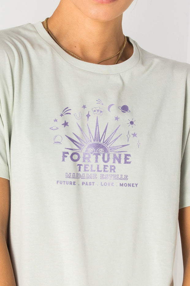 Daisy Street Relaxed T-Shirt with Fortune Teller Print