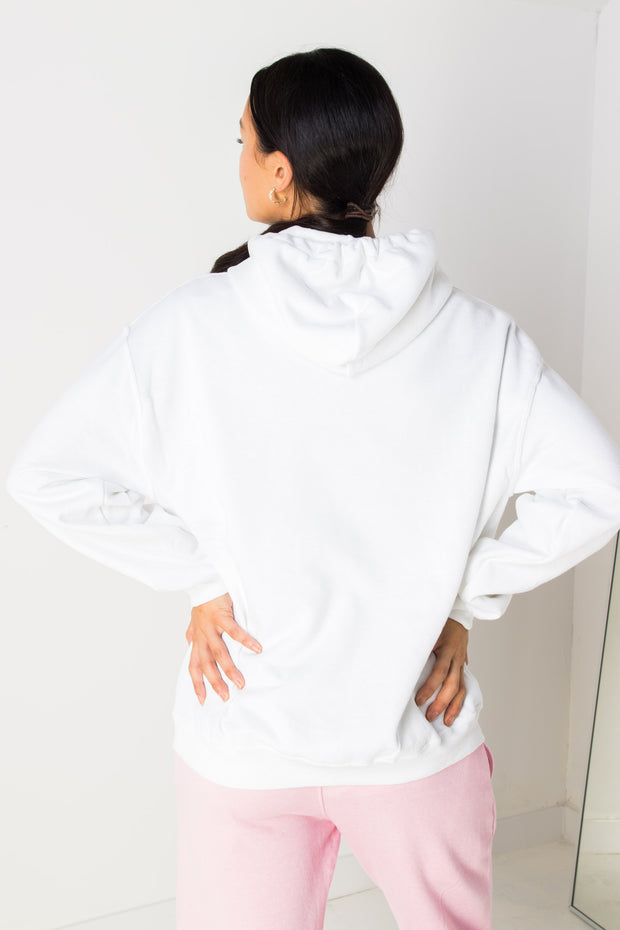 Daisy Street Oversized Hoodie with Orlando Pastel Print