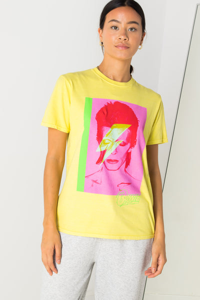 Daisy Street Relaxed T-Shirt with Bowie Print
