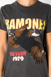 Daisy Street Relaxed T-shirt with Ramones Eagle Print