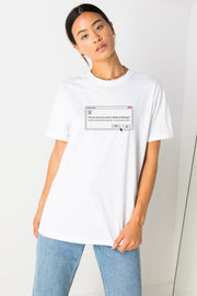 Daisy Street Relaxed T-Shirt with Delete Feelings Print