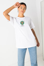 Daisy Street Relaxed T-Shirt with Taurus Print