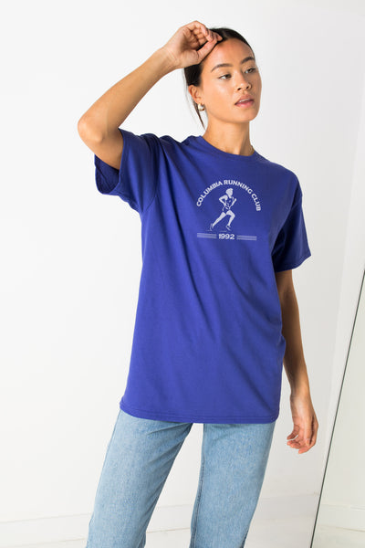Daisy Street Relaxed T-Shirt with Running Club Print