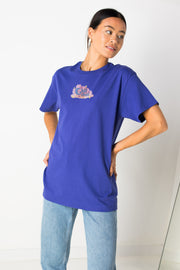 Daisy Street Relaxed T-Shirt with Chit Chat Print