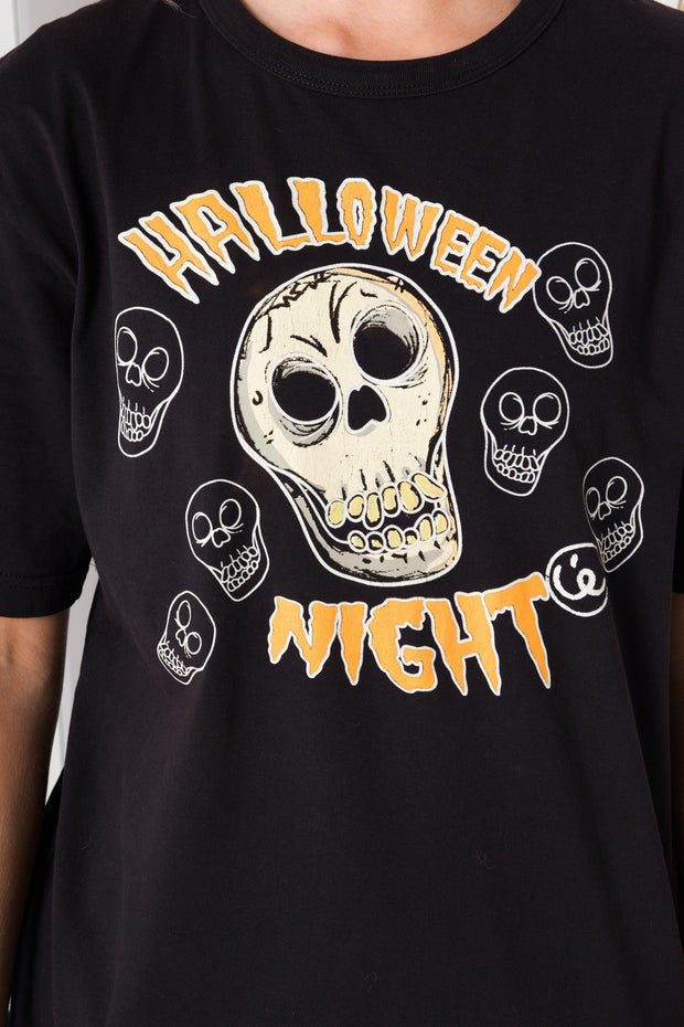 Daisy Street Vintage T-Shirt with Halloween Ghost Print