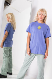 Daisy Street Relaxed T-Shirt with Lemon Print