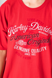 Daisy Street Vintage Harley Davidson T-Shirt with American Originals Print