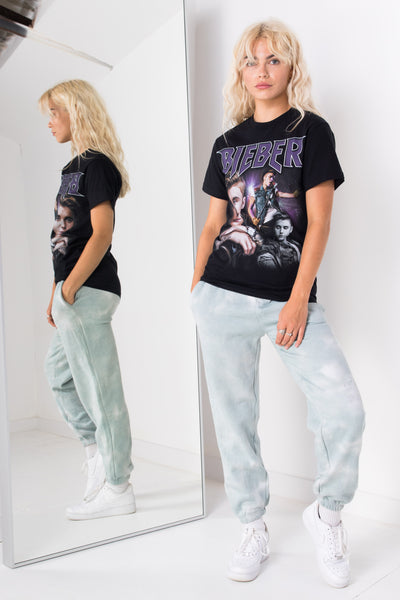 Daisy Street Relaxed T-Shirt with Justin Bieber Print