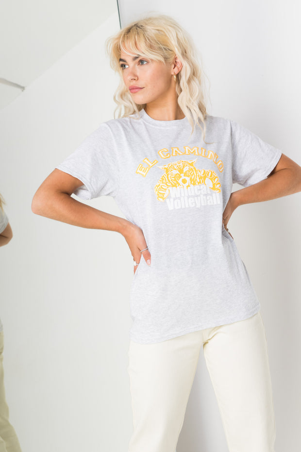 Daisy Street Vintage T-Shirt with Volleyball Print