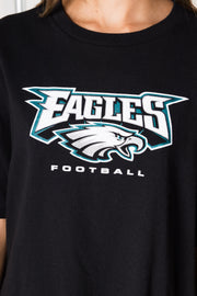 Daisy Street Vintage T-Shirt with Eagles Football Print