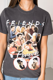Daisy Street Relaxed T-Shirt with Friends Forever Print