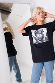 Daisy Street Relaxed T-Shirt with Ice Cube Print
