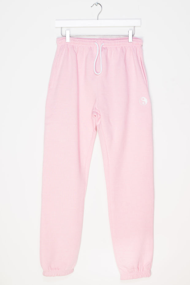 Daisy Street Oversized Pink Jogger with Yin Yang Heart Embroidery