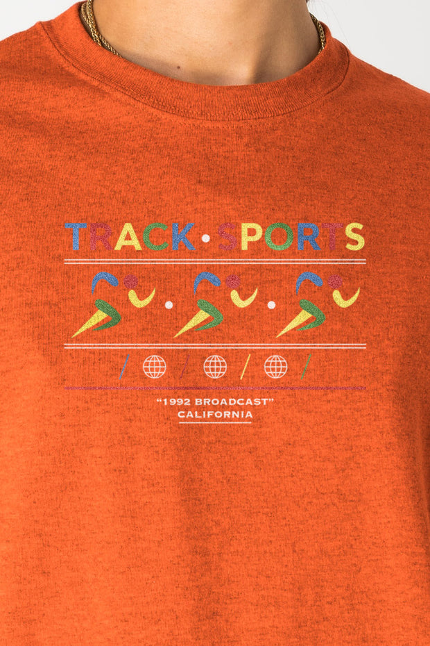 Daisy Street Relaxed T-Shirt with Track Sports Print