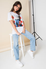 Daisy Street Relaxed T-Shirt with Bruce Springsteen Print