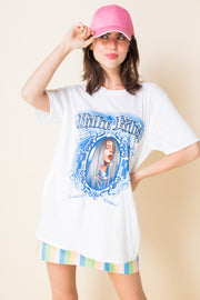Daisy Street Relaxed T-Shirt with Billie Eilish Airbrush Effect Print