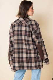 Daisy Street Vintage Harley Davidson Brown Checked Shirt