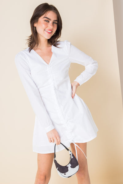 Daisy Street Ruched Mini Dress