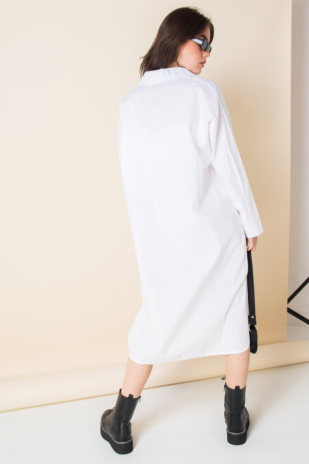 Daisy Street Cotton Midaxi Shirt Dress