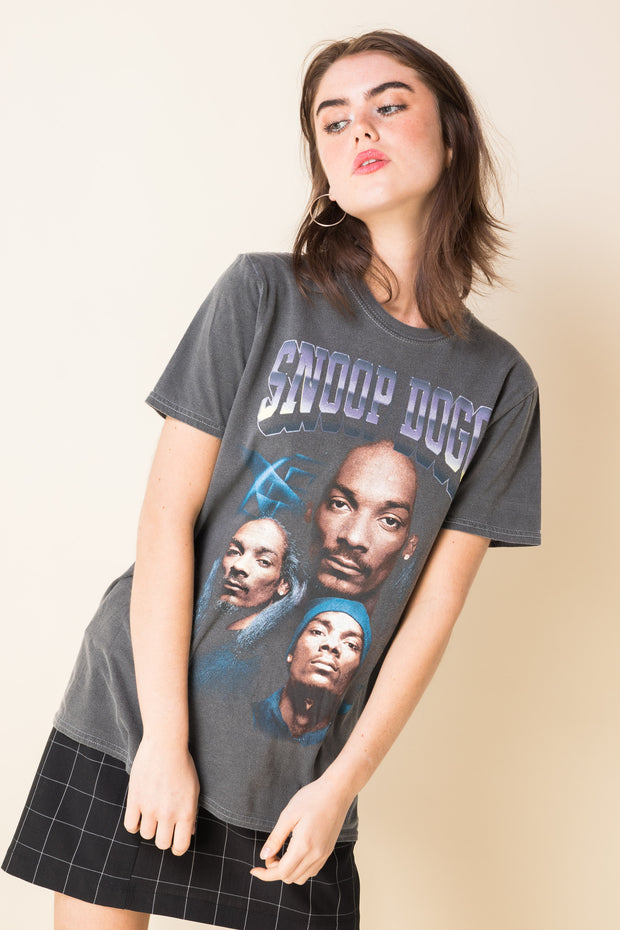 Daisy Street Relaxed T-Shirt with Snoop Dogg Print