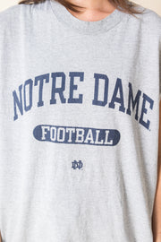 Daisy Street Authentic Vintage Champion Sleeveless T-Shirt with Notre Dame Print