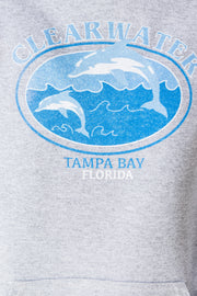 Daisy Street X Mocean Oversized Hoodie with Clearwater Tampa Bay Florida Print