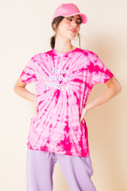 Daisy Street X Mocean Oversized Tie Dye T-Shirt with Postive Print
