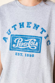 Daisy Street Vintage T-Shirt with Authentic Pepsi-Cola Print